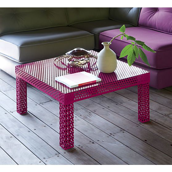 rouge coffee table in furniture | CB2: Modern Furniture, Coffee Tables, Brasil Collection, Pop Of Colors, Pink Table, Colors Furniture, Rouge Coffee, Memorial Tables, Accent Tables