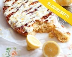 KakkuKatri loihti meille ihanan Sitruunapullan ohjeen Blogiringin kampanjassa. www.vuohelanherkku.fi/reseptit/sitruunapulla #gluteeniton #vuohelanherkku #resepti