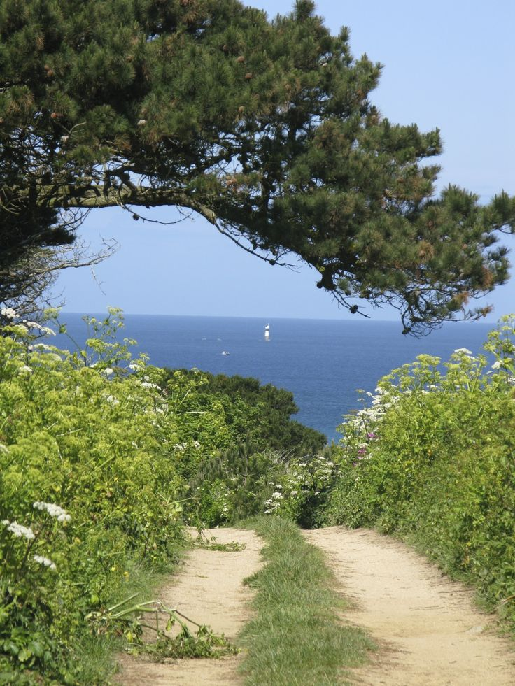 Herm Island, Guernsey - view from the Spine