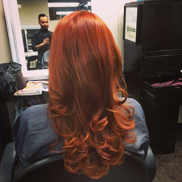 """43 Likes, 1 Comments - CARLOS ESQUIVEL (@carlospromess) on Instagram: """"Keeping that red fresh on my client Tiffany.. Achieved with Wella color touch 7/43 equal parts…"""""""