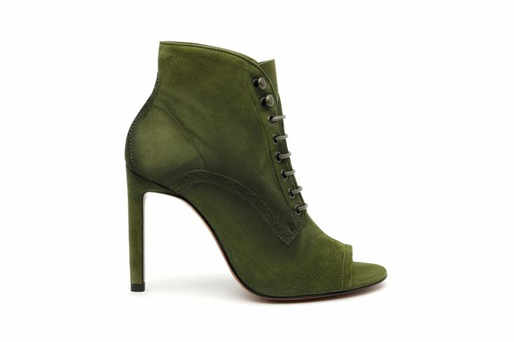 Santoni | #ankleboot in suede with open toe http://santonishoes.com/it/sandalo-58082.html