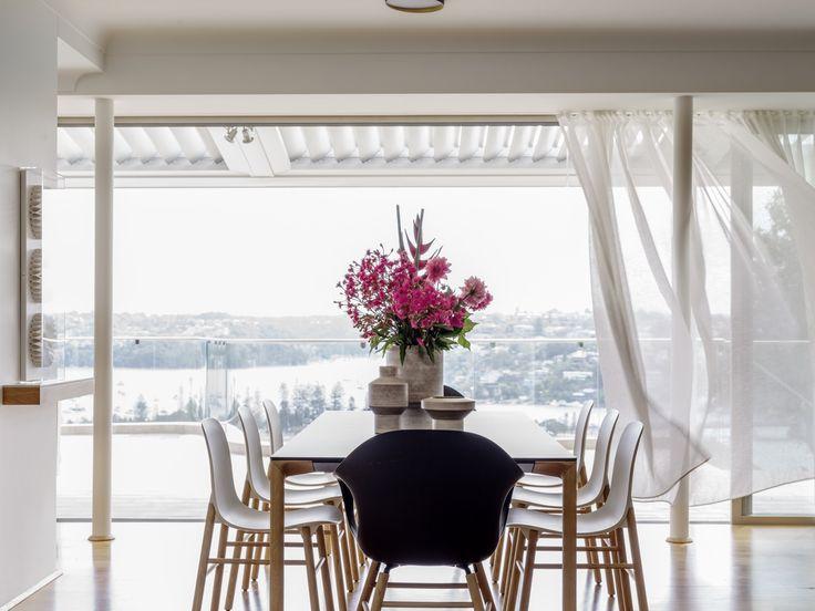 INTERIORS Alwill Interiors ARCHITECTURE Alwill Design  #interiors #diningroom #curtains #view #wood