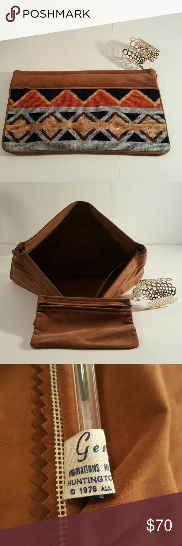 NWOT - Never used Vintage Aztec clutch Multi color Aztec design 1976 Gemini Bags Clutches & Wristlets