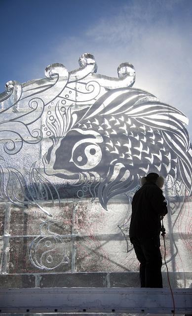 Winterlude, Winter Festival, Ottawa, Ontario.  Unbelievable ice sculptures and snow sculptures!