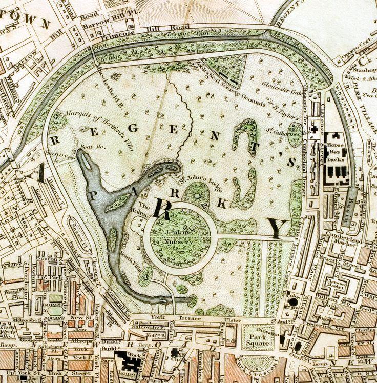 Regent's Park London from 1833 Schmollinger map - Royal Parks of London - Wikipedia, the free encyclopedia