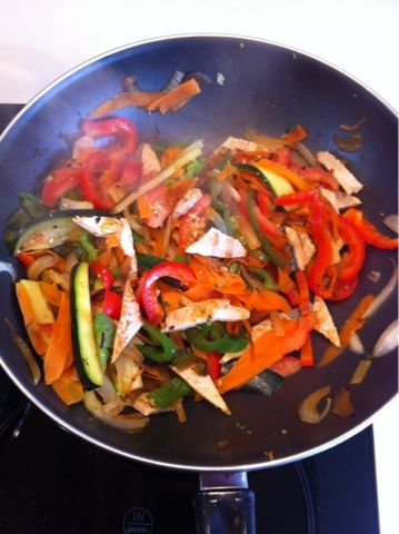 Recetas fáciles para cocinar con Wok: Wok de pollo con vegetales