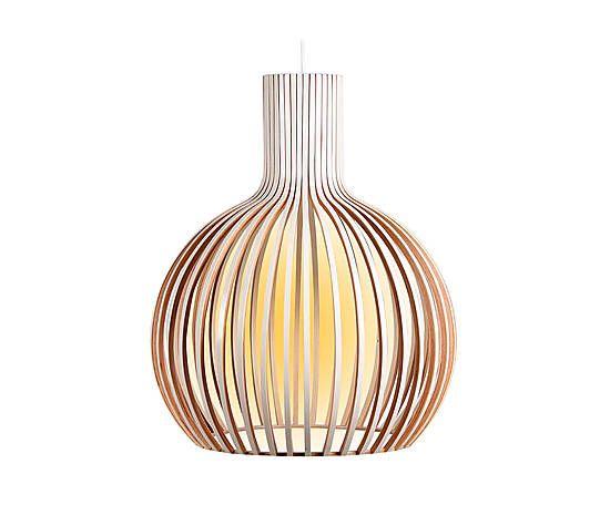 Lámpara de techo en madera de haya - blanco