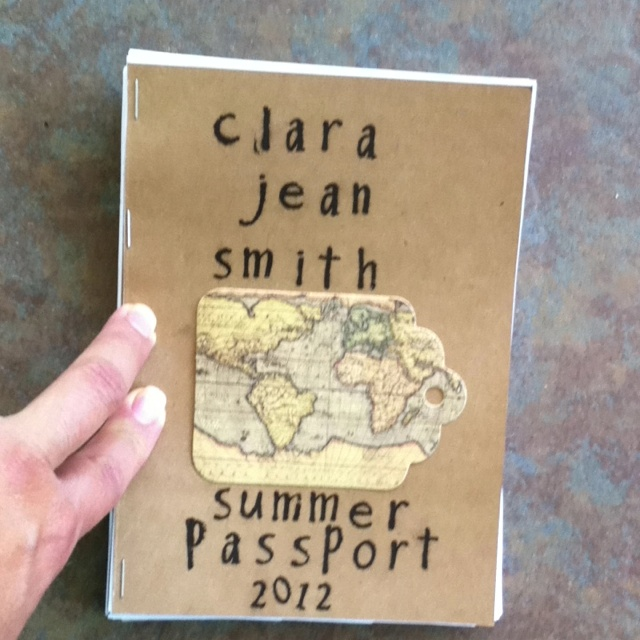 Passports for the summer!  Do an activity and stamp the date in the passport and/or draw picture/take picture/journal about it.  Great way for kids to make a keepsake of their summer.  Thx Lynn Stewart for the idea!