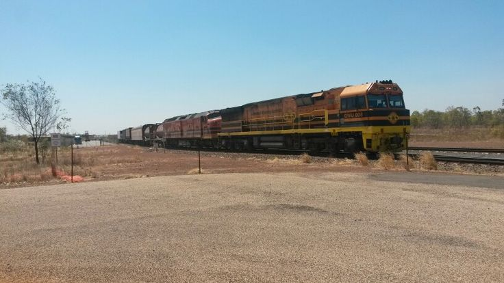 At Katherine, Northern Territory detaching a Wagon on a hot day.