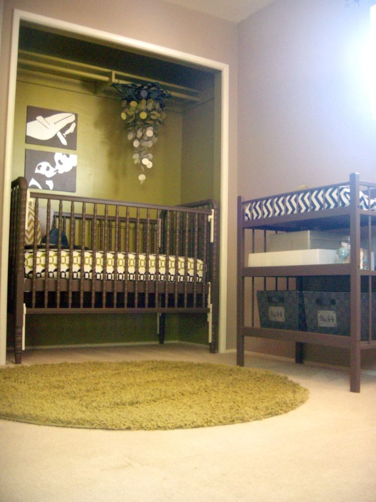 Baby Nursery: Crib In Closet, Space Saving Ideas!
