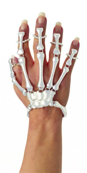 Skeleton Hand Bracelet - Turn up the creepy with this skeleton hand bracelet.  #yyc #costume #jewelry