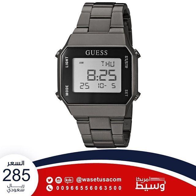 Goo Gl Rtdddb تشكيلة ساعات من ماركة Guess ساعة يد رجالية رمادية اللون من ماركة Guess وسيط Casio Watch Casio Light
