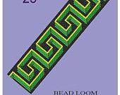 Artículos similares a Cuentas motivos Vintage telar 25, 27, 28, 31, 33 3D multicolor Pulsera patrones PDF en Etsy