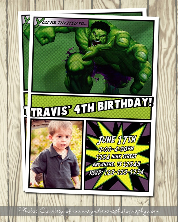 37 best incredible hulk party images – Hulk Birthday Invitations