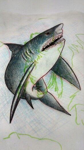 Shark idea for a coverup tattoo