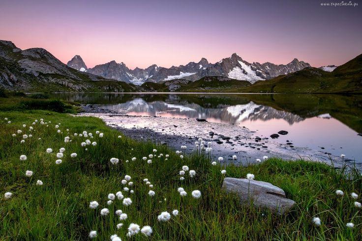 Krajobraz, Góry, Jezioro, Łąka