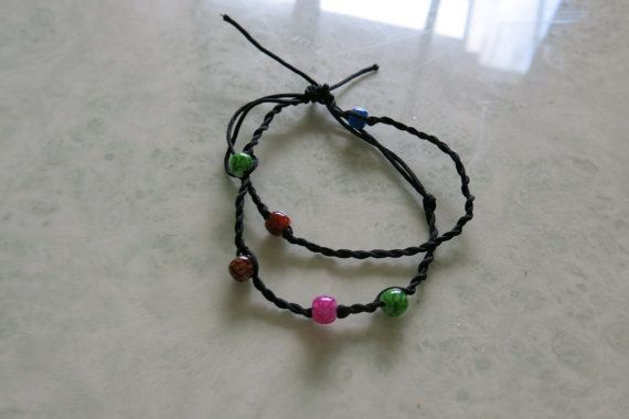 Braclet: Friendship hand knotted by Mckcampbell on Etsy