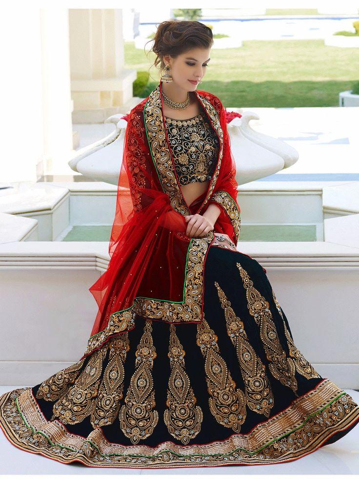 Contemporary Royal Blue Lehenga Choli - OGND070D0198K   Indian Trendz