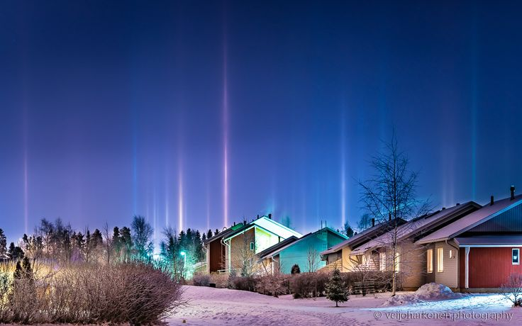 Pillars of Light - Halo phenomenon is Kempele