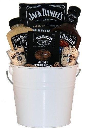 Jack Daniels Whiskey gift basket.