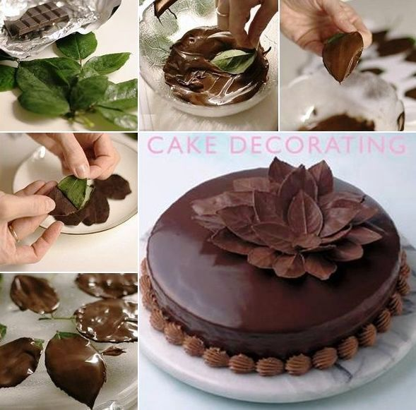 Foglie di cioccolato