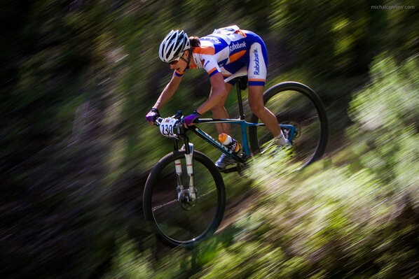 Marianne Vos first win on MTB.