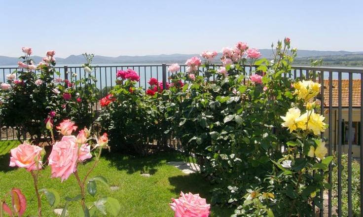 Dachgarten mit Blick auf den Lago