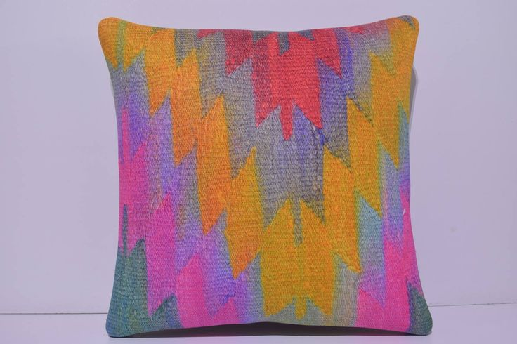 unusual kilim pillow 24x24 antique pillow cover contemporary cushion geometric cushion sofa cushion floor pillow striped pillow case 256-60 by DECOLICKILIMPILLOWS on Etsy https://www.etsy.com/listing/245907770/unusual-kilim-pillow-24x24-antique
