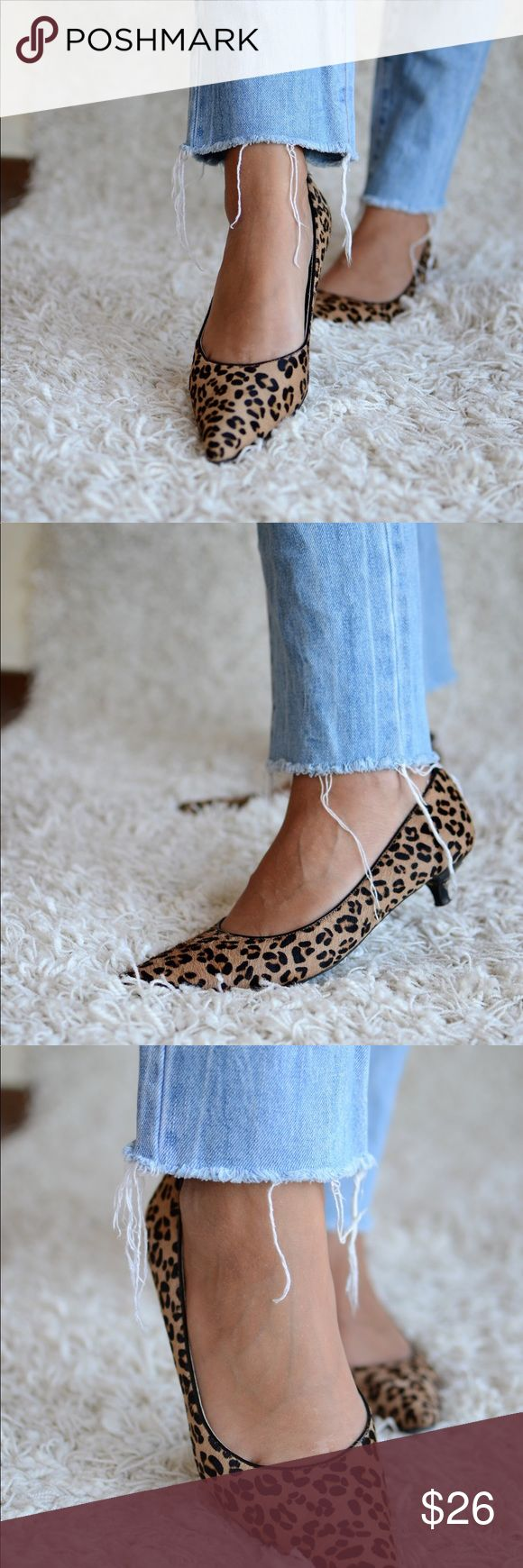 Ellen Tracy Animal Print pointed toe kitten heels I am fostering the cutest (but most pooping) kittens on earth. I didn't know I would change their 3 litter boxes like 4 times a day. They are become a full time job, that's why you don't see me here much 😂 Ellen Tracy animal Print pointed toe kitten heels Pumps. Basically new. Price still on. Orig $99, sold for $69.99. Size 9. Fit true size. #shoes #pumps Ellen Tracy Shoes