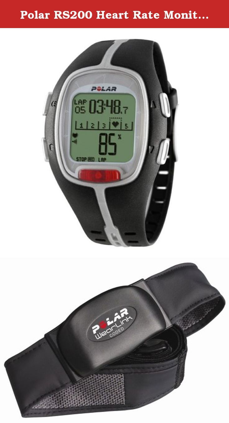Polar RS200 Heart Rate Monitor Watch (Black). The RS200 was made for goal oriented runners who want to prepare for their first running event or who want to enhance their running experience. Use the Polar Sports Zones and the Event Countdown Timer to manage your training for that key running event. You can even upload your settings to your running computer and then download your workout files to the Polar Running Coach Web Service for analysis. WearLink fabric transmitter included. Get the...
