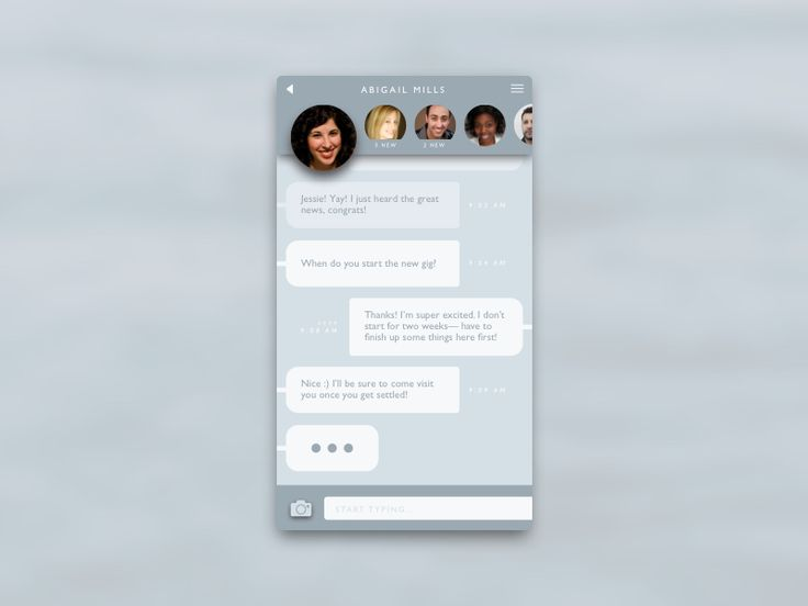 Day 13 of the daily UI challenge. My take on a direct messaging screen.