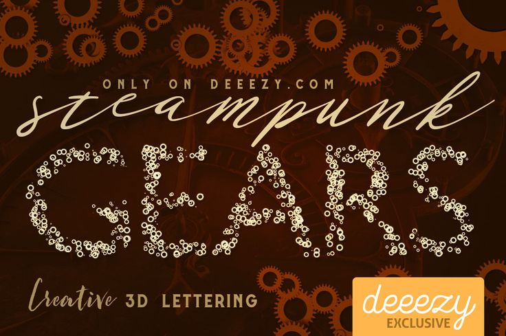 Steampunk Gears Lettering | Deeezy - Freebies with Extended License