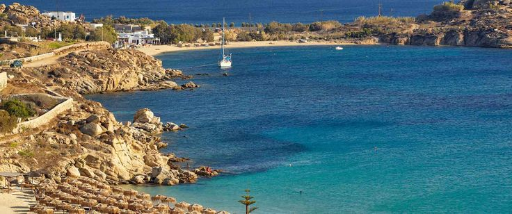 #MyconianTip: Platis Gialos is one of the most popular beaches of the island, renowned for its crystal clear water and fine sand!  Plan your visit today, combining an exquisite gastronomic experience with magnificent view at the Myconian Ambassador!