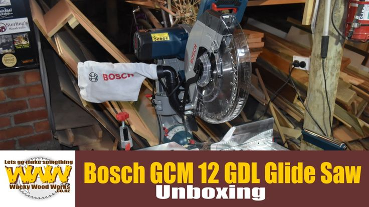 Bosch  GCM 12 GDL Glide Saw Unboxing - Wacky Woodworks