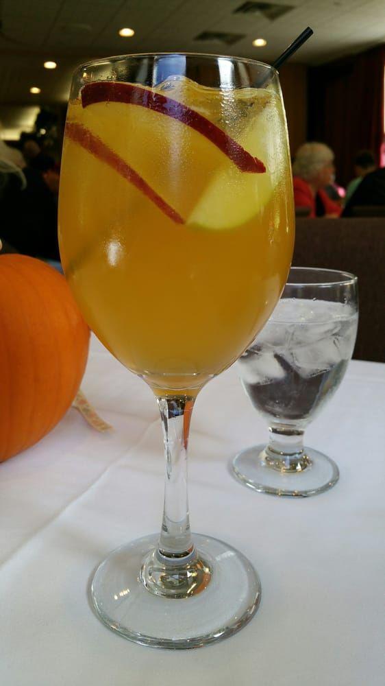 Photo of Glen Iris Inn - Castile, NY, United States. Caramel vodka apple martini at Glen Iris Inn, Letchworth state park