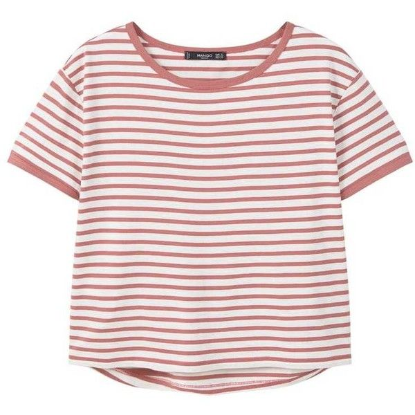 Striped Cotton T-Shirt (190 ARS) ❤ liked on Polyvore featuring tops, t-shirts, shirts, clothes - tops, tee-shirt, stripe shirt, t shirt, striped cotton shirt and stripe cotton shirt