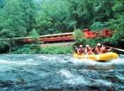 The Nantahala River offers a family-friendly #whitewaterrafting experience with mild, but exciting rapids.