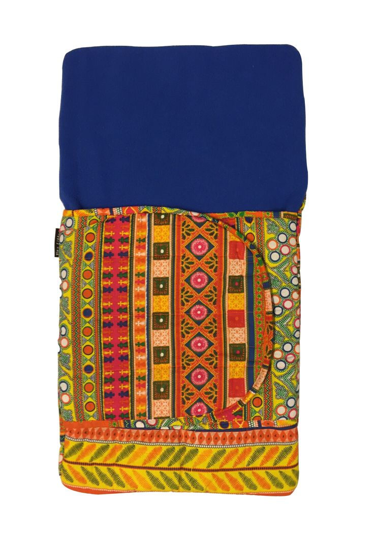 Buy warm and cozy Jaipuria print baby sleeping bag with blue fleece online in India from wobblywalk.com. ✓ Made from Cotton and Fleece ✓ Free Shipping.