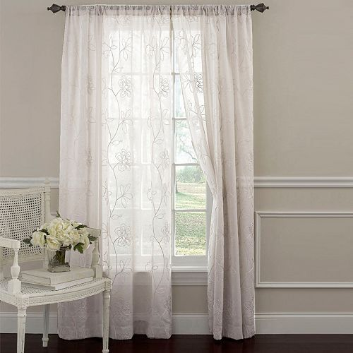 Laura Ashley 2-pack Lifestyles Frosting Sheer Window