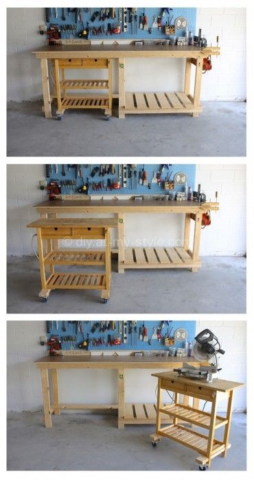 Ikea Kitchen Island as a Mobile Workshop Bench - for the future craft room?