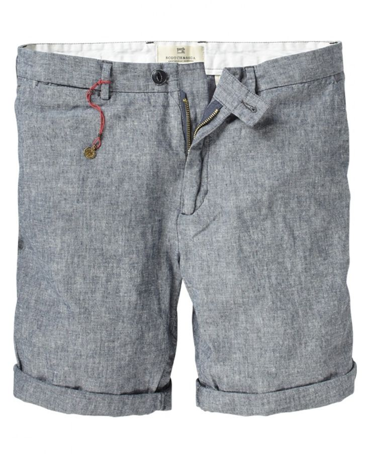 grey chino short. by scotch & soda.