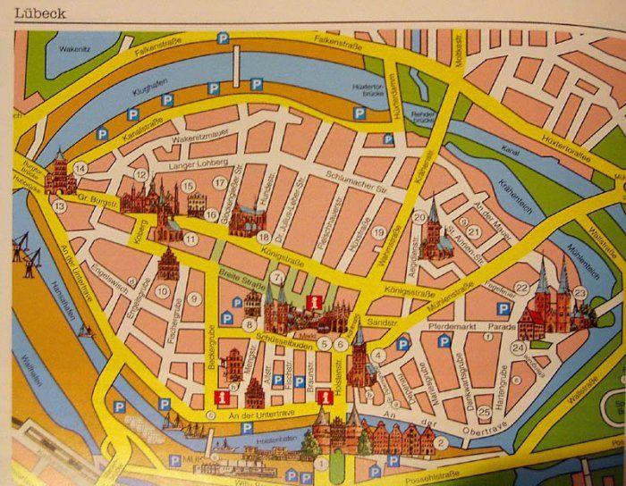 Kort oved Lübeck