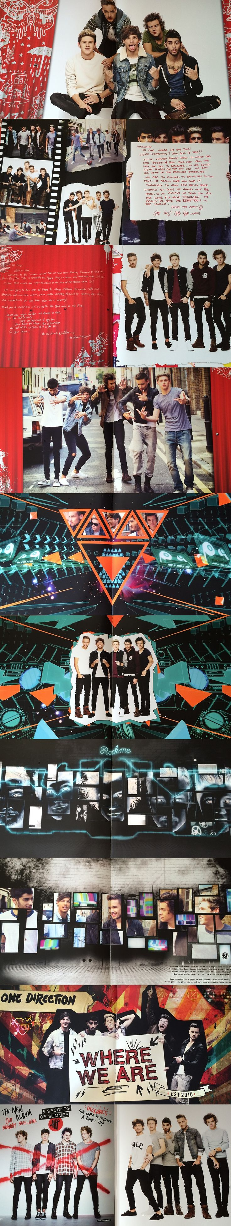One direction tour bus interior - One Direction Where We Are Tour Booklet