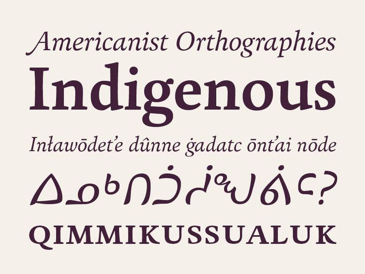 Huronia typeface by Ross Mills  Huronia is a distinct typeface family that supports all Native American and European languages. Its advanced features and elegant æsthetic are ideal for book typography.  #amerindian #cherokee #inuktitut #book #typography #type #fonts #elegant #design #graphicdesign  https://www.rosettatype.com/Huronia
