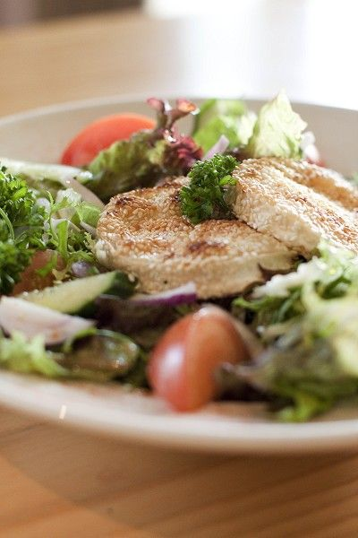 Toasted Sesame Goats Cheese Salad