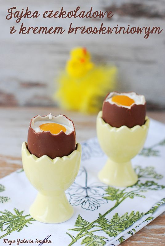 Jajka czekoladowe z kremem brzoskwiniowym