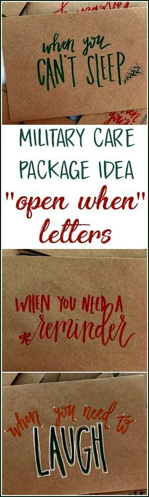 "Hand Lettered ""Open When"" Envelopes - Going Away Present - Pre-deployment gift - Military Care Package Idea, Long Distance Relationship 