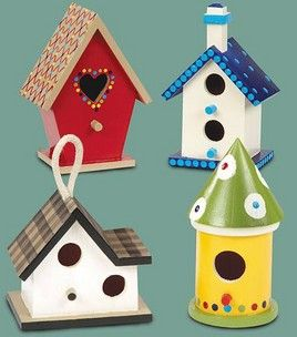 From Jo-Ann's paint your own acrylic birdhouses