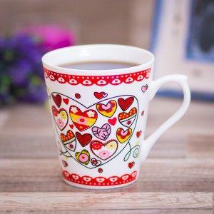 Cana cu inimi. #heartcup