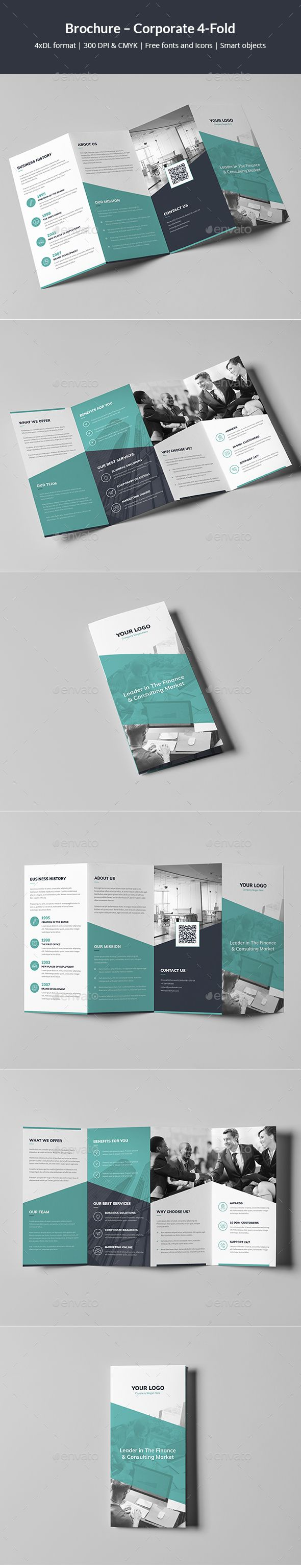 Brochure – Corporate 4Fold #mint #analysis  • Download here → https://graphicriver.net/item/brochure-corporate-4fold/21312420?ref=pxcr